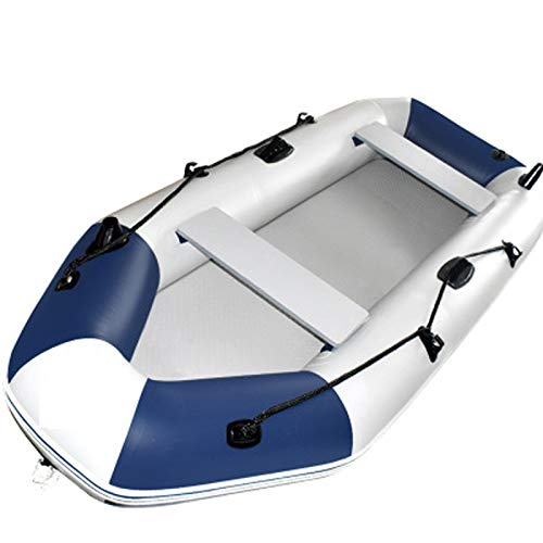 Lixiabeidai Kayak, Canoa Inflable, Barco Inflable, Vapor de Paleta de 200x128x35cm con Shell Fuerte de PVC, por Surf de Verano,2.0m 2~3 People slatted Boat