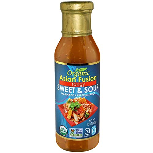 Organic Asian Fusion Tangy Sweet & Sour Marinade & Dipping Sauce - USDA Organic, Non GMO Project Verified, Gluten Free, Kosher Parve, Made in USA, 15 Oz. (1 Pack)
