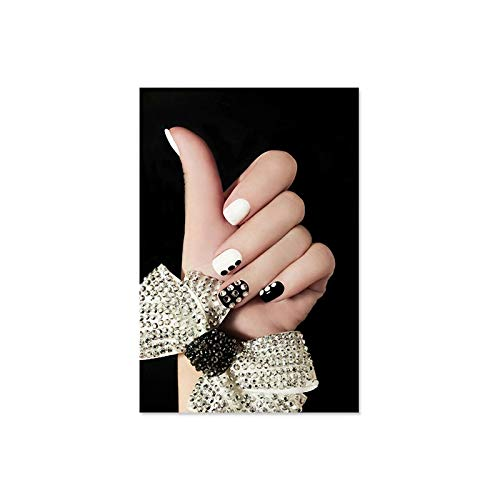 JHGJHK Pintura Decorativa de Esmalte de uñas a la Moda para Mujer nórdica, póster, Pintura al óleo, Imagen artística, salón de Belleza, Pintura Decorativa para Tienda de uñas (Imagen 2)