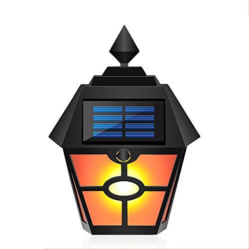 Solar retro sechseckige Scheibenlichter, simulierte dynamische Flammenlichter, Hof Garten Villa Landschaftslichter