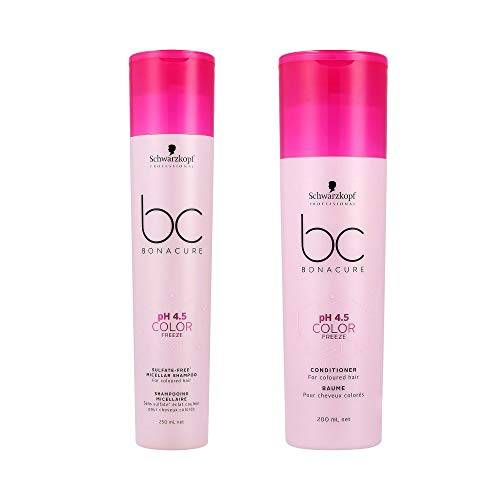 Schwarzkopf Bonacure pH 4.5 Color Freeze Micellar Rich Shampoo 250ml and Conditioner 200ml