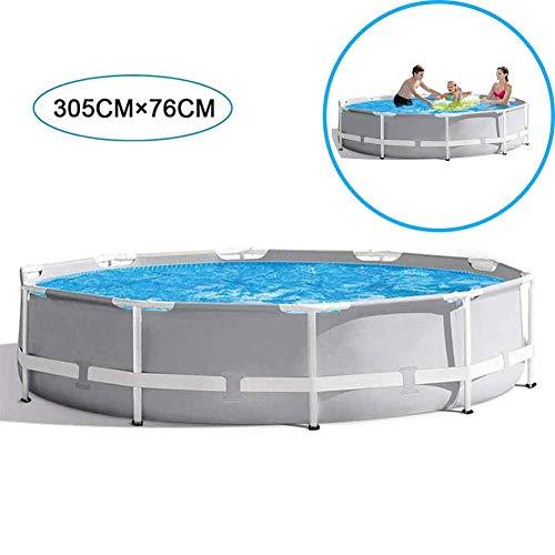 XFY Schwimmbad Metallrahmen Stahlrohr Teichfamilie Schwimmbad Filterpumpe Metallrahmen Struktur Pool für Kinder und Erwachsene Zum Spielen Im Garten