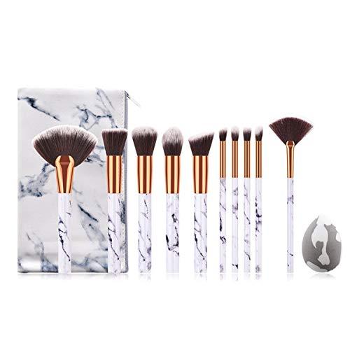 CVBF Pinceau Maquillage 1 Set Professionnel pinceaux de Maquillage Fard à paupières Poudre Cils pinceaux de Maquillage avec Sac + cosmétique Éponge (Color : 11Pcs, Size : One Size)
