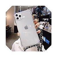 クロスボディネックレスコードストラップFor iphone用透明ソフトフォンケース66S 7 8 Plus X XR XS 11 Pro Max For samsung S8 S9 A50 S-E-for iphone SE 2020