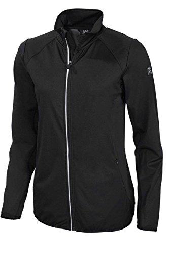 Crivit Pro - Chaqueta de running para mujer (tejido Softshell), primavera/verano otoño, Mujer, color Negro , tamaño XS 32/34