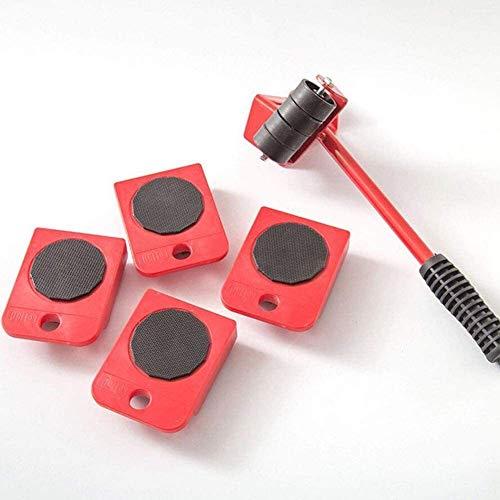 TXOZ-Q Muebles Levantador Mover Conjunto de Herramientas/Mover los Muebles de Rodillos deslizantes, MAX hasta 150 kg / 330 Libras, Apto for sofás, sillones y refrigeradores (Color : Red)