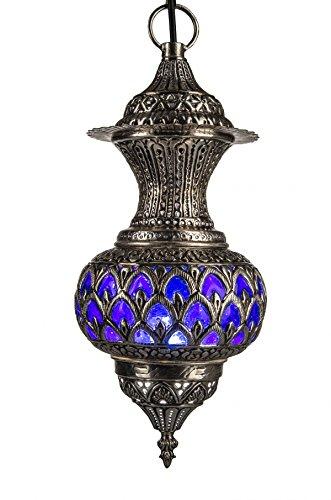 Oosterse Marokkaanse Arabisch messing zilver plafondlamp hanglamp lamp armatuur Alishba- B 50cm