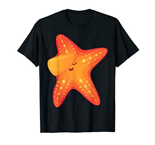 Funny Orange Starfish Dabbing T-Shirt