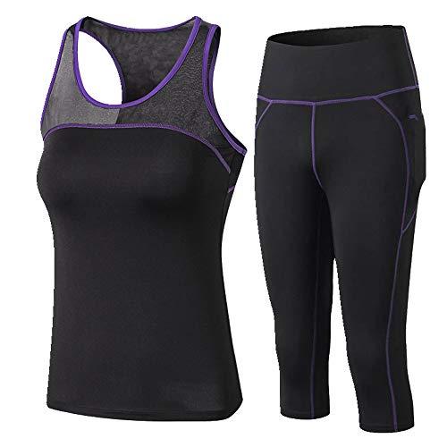 Traje deportivo mujer ropa deportiva yoga slim primavera verano
