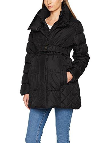 MAMALICIOUS Damen Umstandsjacke Mlzita Padded Jacket, Schwarz (Black Black), 42 (Herstellergröße:XL)