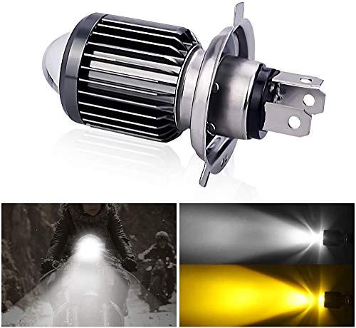 NATGIC H4 9003 HB2 Led Ampoules Phares Hi//Lo Kit de Conversion Fanless CSP Y19 Puces Super Bright 8000LM et 6500K Xenon Blanc DC 9V Garantie de 2 ans 32V pack de 2