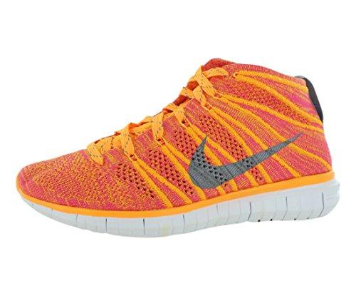Nike Womens Free Flyknit Chukka Fitness Running Shoes Orange 5 Medium (B,M)