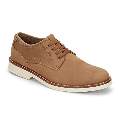 Dockers Mens Parnell Alpha Leather Dress Casual Oxford Shoe with NeverWet, Dirty Buck, 8 M