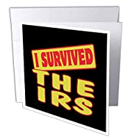 Dooni Designs Survive Sayings – I Survived the IRS Survival Pride andユーモアデザイン – グリーティングカード Individual Greeting Card