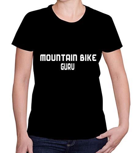 Custom Brother - Mountain Bike GURU Sports Exercise Women's Lady's Short Sleeve T-Shirt Top S#545 Black