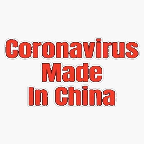 Coronavirus Made In China Vinyl Bumper Sticker Decal 5'