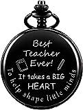 DNGDD Orologio da Taschino Orologio da Taschino per Insegnanti di fine Semestre Regali di gratitudine Regali per Gli Insegnanti Pensionamento Compleanno Regali di Laurea da Studenti Regali per la