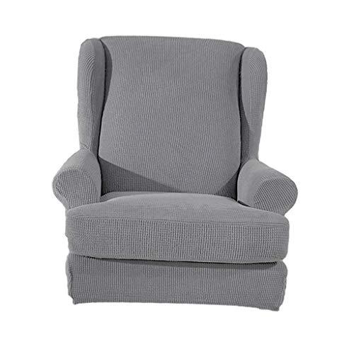 Tubayia Ohrensessel Husse Schonbezug Elastische Sofaüberwurf Bezug Überzug für Ohrensessel (Grau)