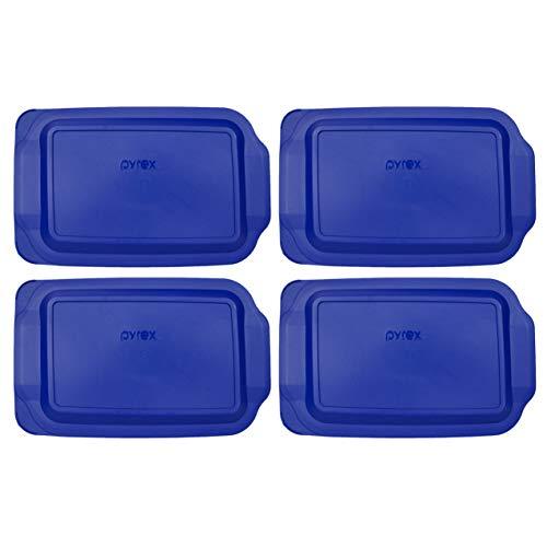 (4) Pyrex 233-PC 3 cuartos azul 9 x 13 pulgadas bandeja para hornear – no se ajusta a Easy Grab bandeja para hornear