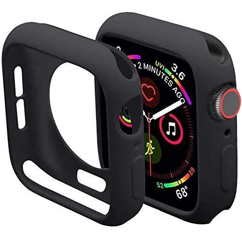 Miimall Kompatibel mit Apple Watch 38mm Schutzhülle Serie 3/2/1, Flexible TPU Hülle Abdeckung Stoßfest Schutz Bumper Hülle für Apple Watch Serie 3/2/1 - Schwarz