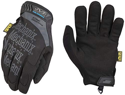 Winter Work Gloves for Men by Mechanix Wear: Original Insulated; Touchscreen Capable (Large, Black/Grey)