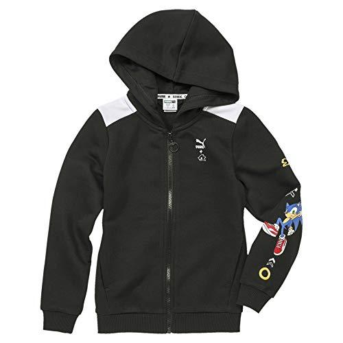 Puma X Sega Hooded Jacket TR B Chaqueta, Unisex niños, Black, 128