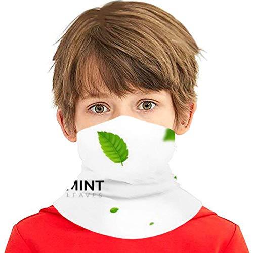 Unisex Green Eco Mint Leaf Ökologie Natur Gesichtsbedeckung Mundabdeckung Schal Wiederverwendbar Staubdicht Mundmaske Outdoor Face Shield Bandana Halstuch Schals