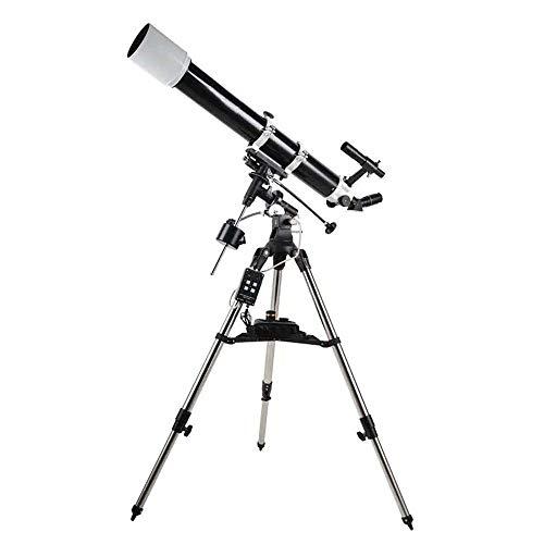 Telescopio rifrattore 90DX Professionale telescopio astronomico HD Stella Visualizza Reflactor monoculare telescopio astronomico (Color : Black, Size : M)