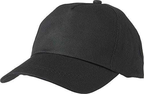 MYRTLE BEACH Casquette promo avec panneau frontal légerement renforcé (black)
