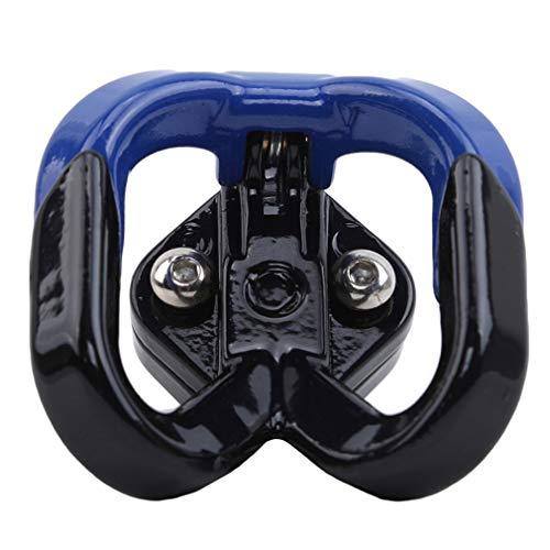 Kaned Motorrad Helmhaken Motorrad Aufbewahrungshaken Double Support Hook Motorrad Gepäckaufhänger Organizer, blau