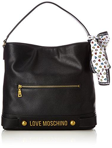 Love Moschino Nappa Grain Pu Nero - Borse a spalla Donna, (Black), 10x32x36 cm (B x H T)