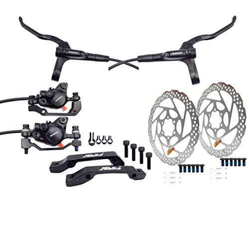 JGbike Shimano MT200 MTB Hydraulic Disc Brake Set & RT56 rotors 180mm + 160mm