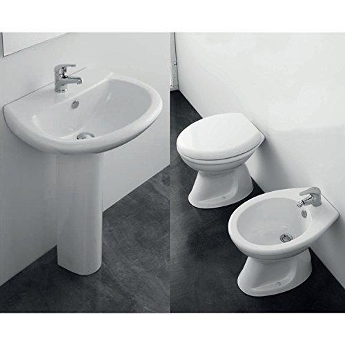 ELMA Set Sanitari Bagno 5 PZ Vaso Scarico Pavimento