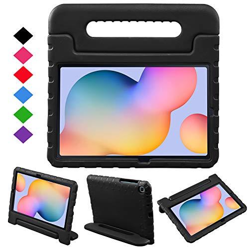 BelleStyle Funda Infantil para Samsung Galaxy Tab S6 Lite 10.4 Pulgada SM-P610 SM-P615, A Prueba de Choques Niños Estuche Protector Manija Soporte para Galaxy Tab S6 Lite 10.4' 2020 Edición (Negro)