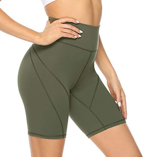 JOYSPELS Biker Shorts for Women Workout Athletic Running Shorts for Women High Waisted Spandex Yoga Shorts for Women, Green XS