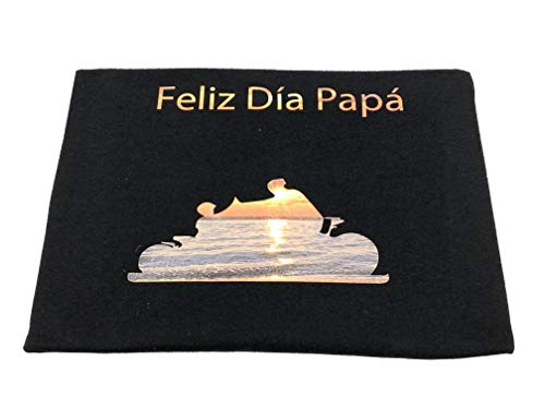 YISAMA T-Shirts - Maglietta per la festa del papà e la festa del papà, taglia S Nero L