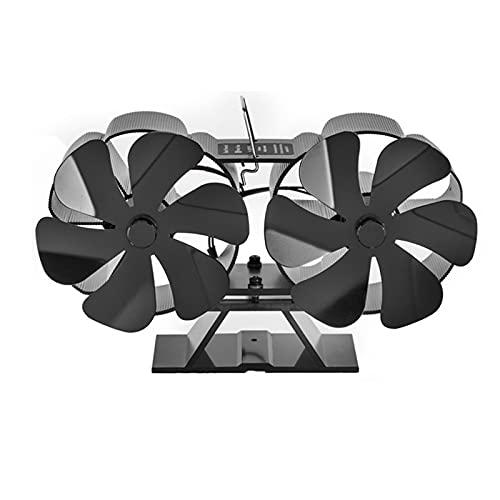 XD7 Ventilatore per Camino per Stufa | Upgrade 12 Pale Stufa Ventilatore Bruciatori A Legna/Ceppi Ventilatore E Bruciatore A Legna Ventilatore per Camino | Funzionamento Silenzioso