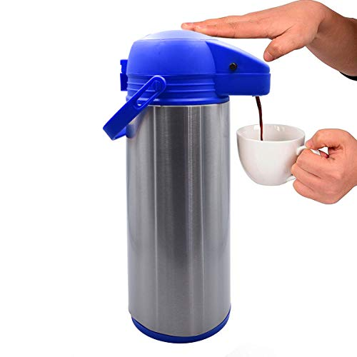 Top Choice 1415-9469 Termo Para Cafe Grande Acero Inoxidable Dispensador de 1.9 Litros (Azul)