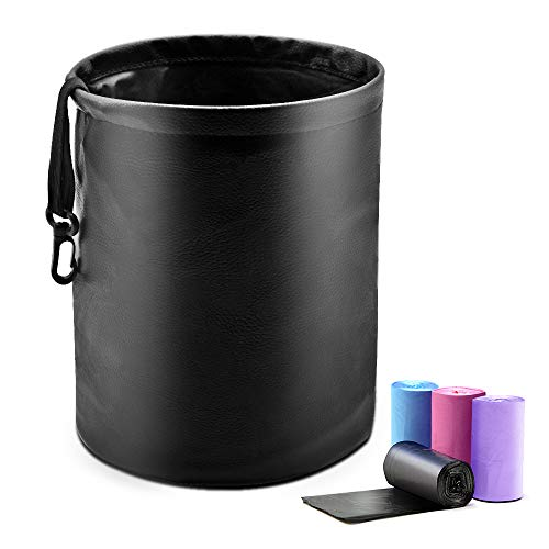 Luckindom Car Trash Can, Collapsible Auto Garbage...