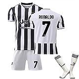 WYIILIN Camiseta de fútbol 21-22 Nuevo C R.O.N.A.L.D.O Home Jersey No. 7 Sudadera de Entrenamiento de fútbol Infantil Conjunto con Calcetines Jersey de fútbol Adulto (Size : 18)