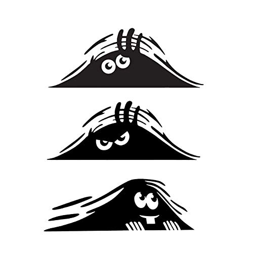 JHere Peeking Monster Sticker - Funny Decal for...