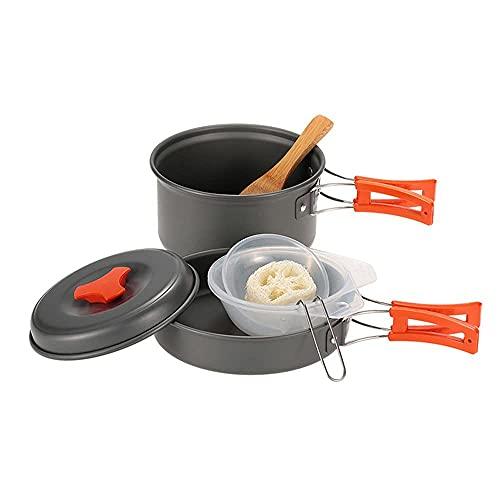 WYJRF Juego de Utensilios de Cocina para Acampar, Kit de Cocina portátil para Viajes, Picnic, Senderismo, al Aire Libre, para Acampar de 2 a 3 Personas (Kit de Utensilios de Cocina para Acampar)