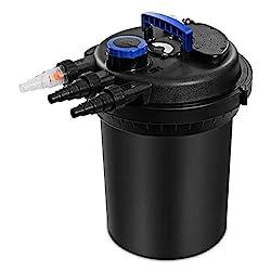 powerful Goplus pressure bio filter 10000L for pond carp water 4000GAL