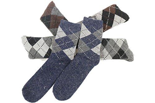 Ysting Super épais 5 paires d'homme doux et confortables chauds Chaussettes, cachemire Chaussettes hommes