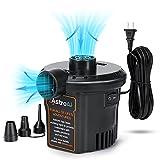 AstroAI Elektrische Luftpumpe Pumpe für Luftmatratze Tragbar Inflator-Deflatorpumpen mit 3 Düsen...