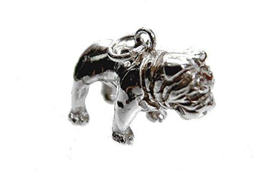 mr.goldis Bulldogge Hunderasse Anhänger Silber 925 ca. 12g Englische Bulldogge Moloser Silberanhänger