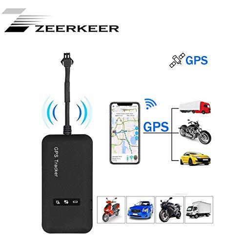 Localizador GPS,Zeerkeer GPS Tracker for Vehicles posición en Tiempo Real con Alarma geofence antirrobo Impermeable Rastreador de automóviles