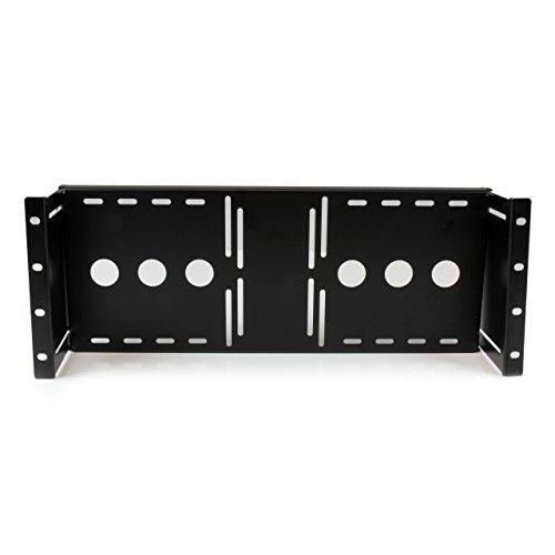 StarTech.com 4U Universal VESA LCD Monitor Mounting Bracket for 19-inch Rack or Cabinet - TAA Compliant - Cold-Pressed Steel Bracket (RKLCDBK), Black