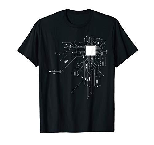 CPU Technik Nerd Computerchip Informatiker Programmierer T-Shirt