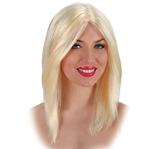Carnival 02570 – Perruque de cheveux lisse et blonde